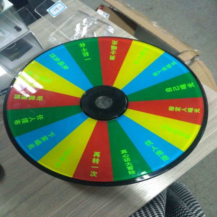Customizable Acrylic Tabletop Spinning 16 Color Prize Wheel - Buy Prize  Wheel,Spinning Prize Wheel,Acrylic 16 Color Prize Wheea Product on  Alibaba com