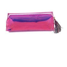 1 шт., лазерный кошелек, пенал, косметичка для макияжа, сумки для ручек, Голографическая голограмма, металлический цвет, канцелярская сумка д...(Китай)