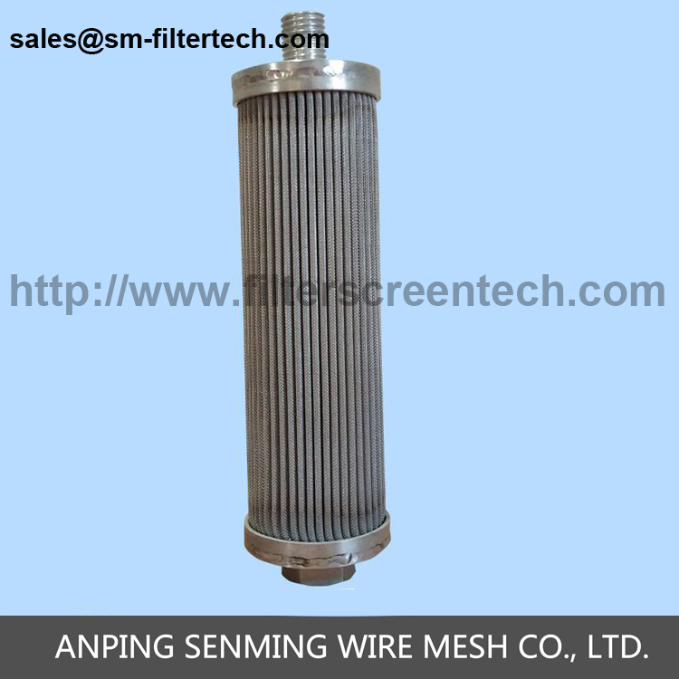 Hot sell sintered stainless steel wire mesh hydraulic lube oil filter cartridge