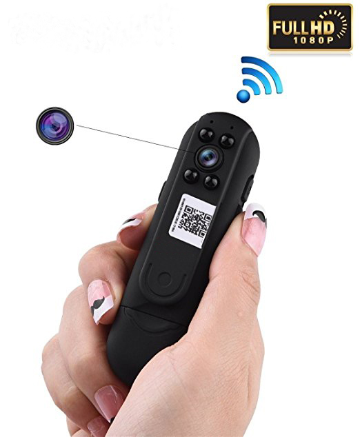 HD 1080P Mini Wifi Wireless Spy Camera Motion Activated Hidden Cam Loop Recording Pen Camcorder-Remote Control