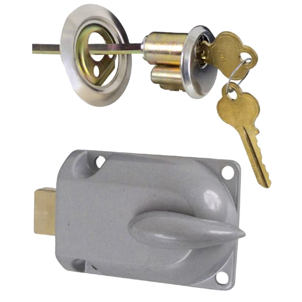 Get Quotations · Ideal Security Inc. SK7160 Garage Door Lock, Zinc Plated