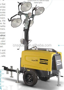 Atlas Copco Mobile Lighting Tower V4 V5 China Hilight View Light Product Details From