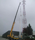 ISO 9001 Certificated Galvanized GSM Self supporting 3 legged /4 legged Communication/Telecommunication Steel Tower