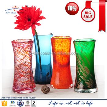 Dalian Factory Stained Glass Japanese Ikebana Vase Buy Ikebana