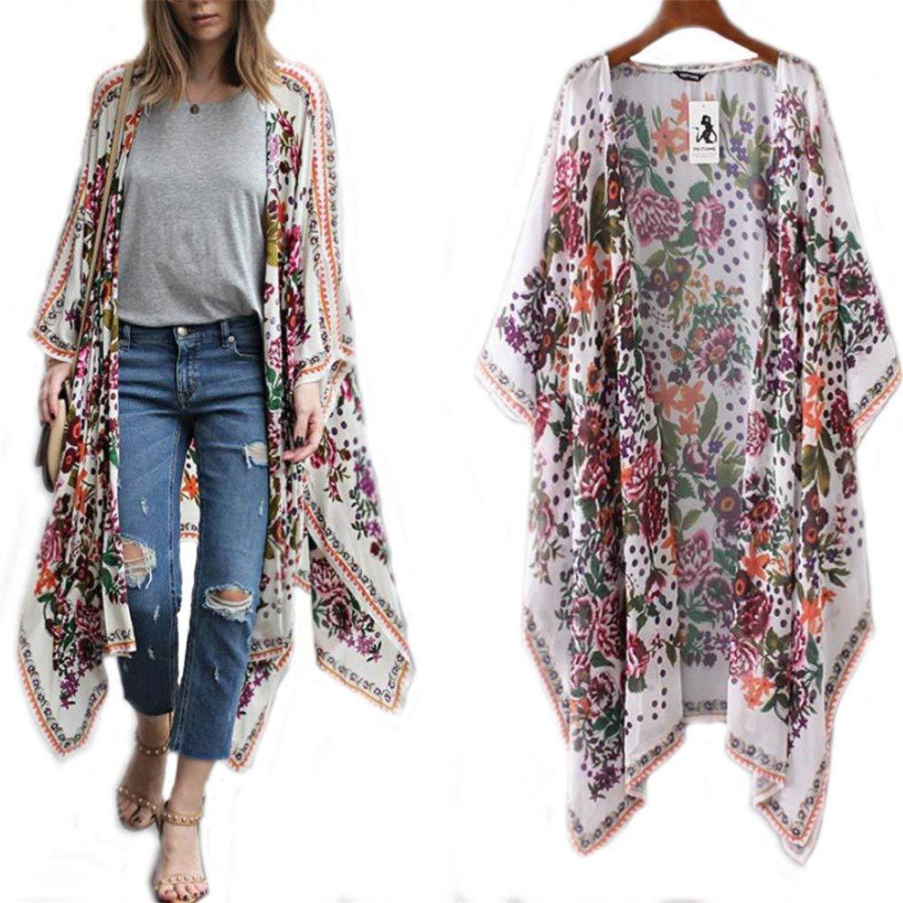 Women/'s Summer Open Front Jacket Coat Lace Crochet Long Maxi Cardigan Plus Size