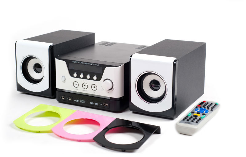 Small size micro hifi dvd player MV-88 support 2.0 portable speaker with USB SD BT