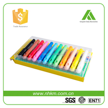 Safe and non-toxic 12 sets automatic rotation gel crayon