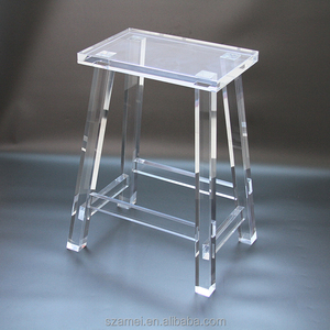 Pleasant Backless Party Clear Acrylic Ghost Bar Stool Pabps2019 Chair Design Images Pabps2019Com