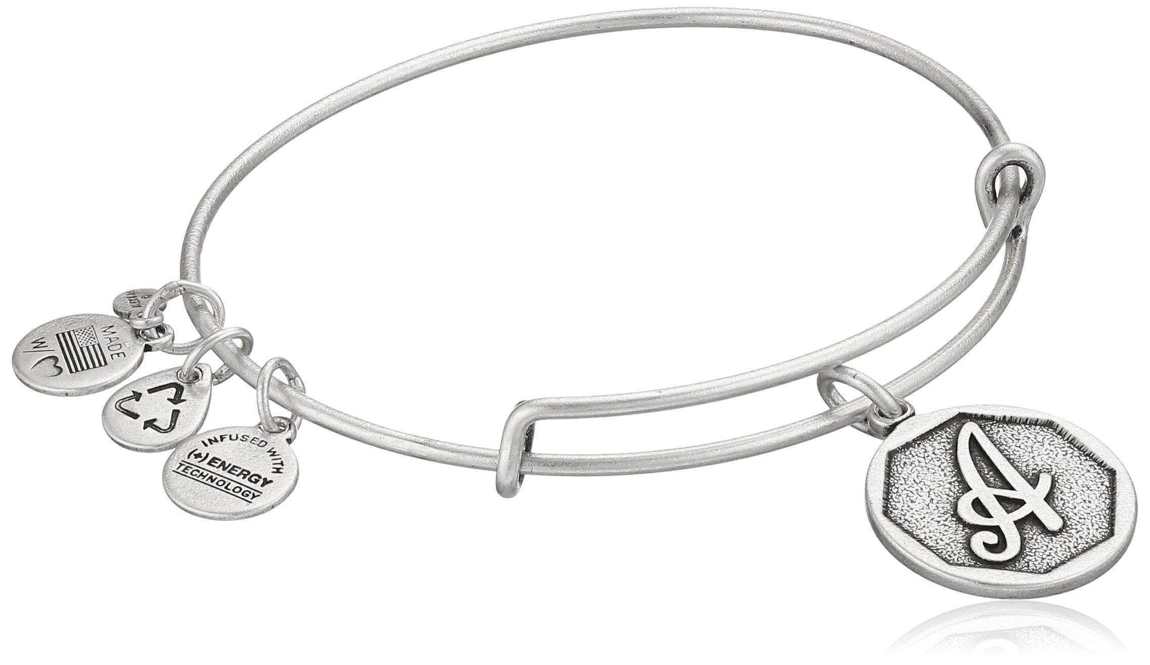 Get Quotations Alex And Ani Initial Expandable Wire Bangle Bracelet 2 5