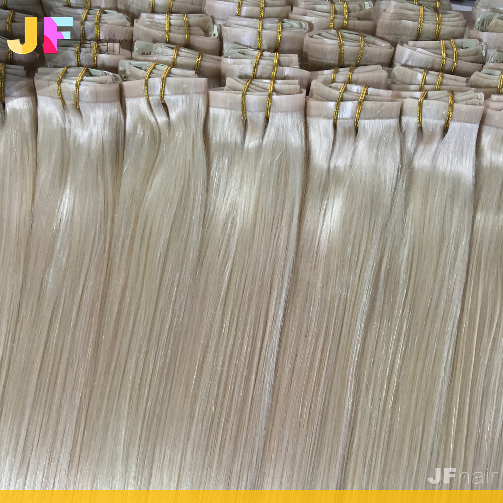 No shedding skin weft seamless clip in hair extensions