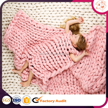 Hot Diy Knitted Cable Bed Throw Free Pattern Customized Wool Roving