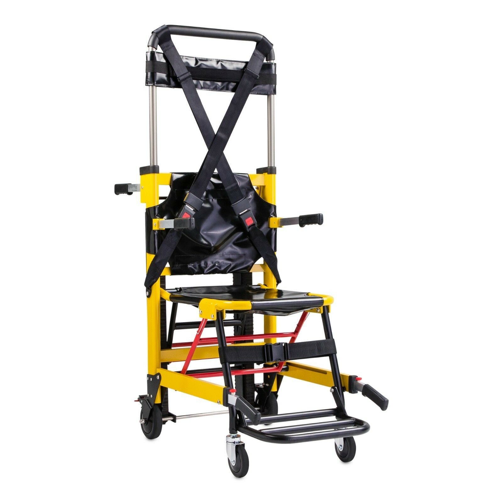 Wheel foldable evacuation stair chair stretcher