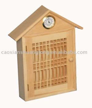 wooden wall hanging key holder box