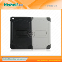 new products For ipad mini case with silicon and PC from China