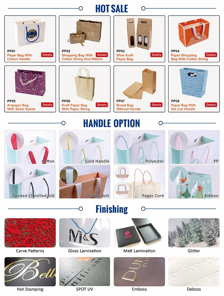 China Paper bag supplier,New style white paper bag, Custom shopping gift bag