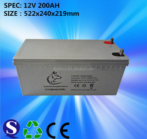 VRLA Solar GEL Battery 12V 200AH With Best Price from dongguan factory