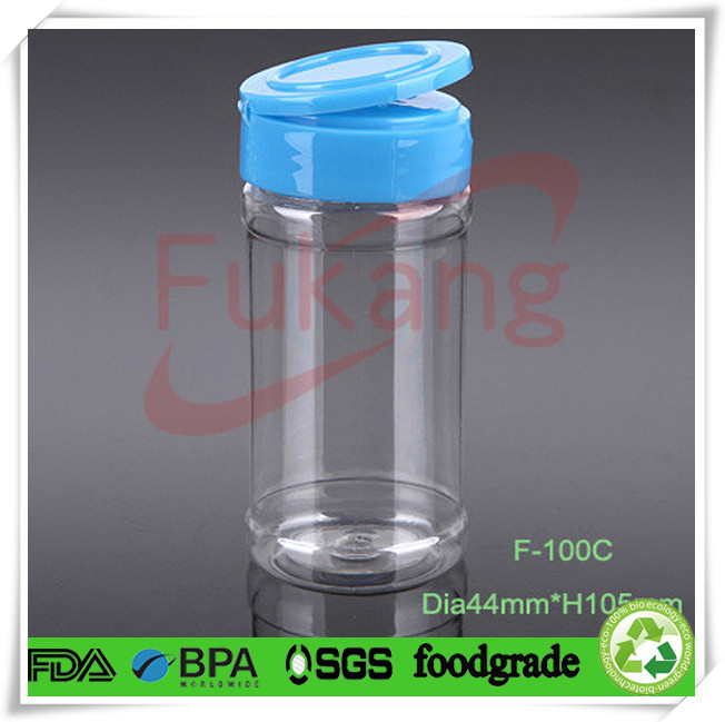 4 Oz Plastic Spice Flip Top Bottle Cap 250ml Pet Flavoring