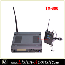UHF PLL Wireless Surveillance Headset Microphone TX-800