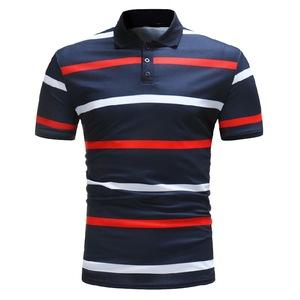 Training short sleeves custom polo t shirt printing logo stripped custom made polo shirt