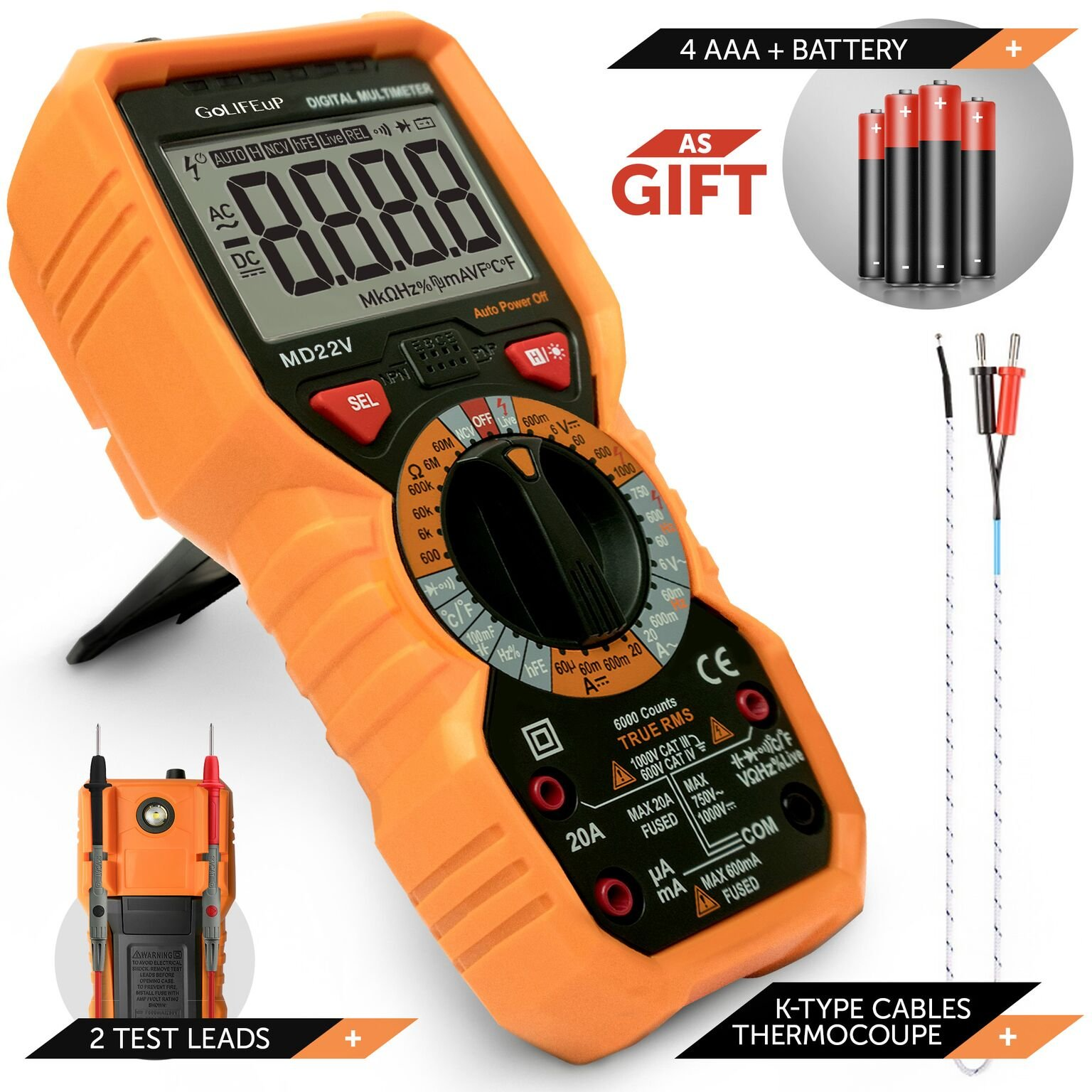 Cheap Circuit Capacitance Find Deals On Line At Sensor Touch L Battery Indicator Capacitive Get Quotations Multimeter Voltage Tester Digital Automotive Temperature Frequency Continuity Resistance True Rms 6000 Counts