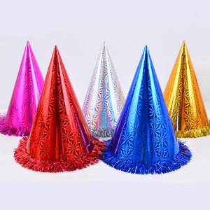 Chinese High Quality Customize Crazy Birthday Party Cone Hats Funny Plastic Paper For