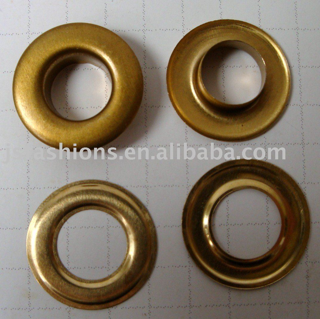 Steel Split Form Eyelets and Brass Rings