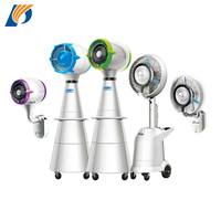 balcony high-end centrifugal type spray water misting fan with light / mist fan high pressure water pump