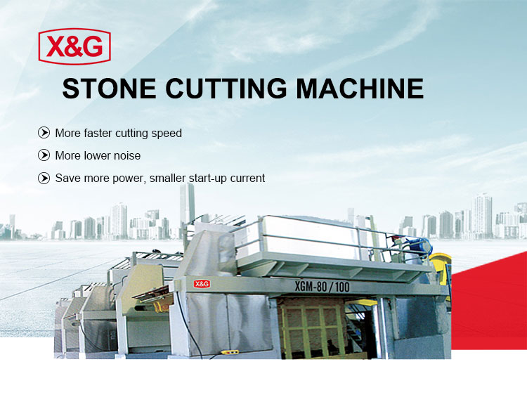 Gang saw machine for marble