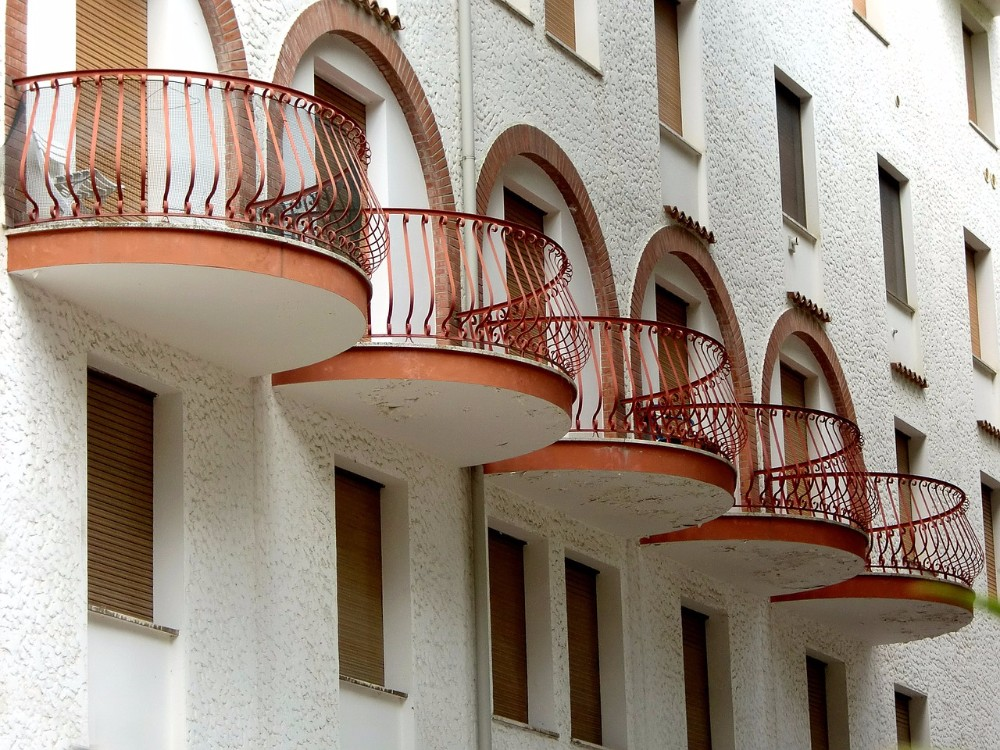 Yekalon Apartment Balcony Iron Railings With Curved