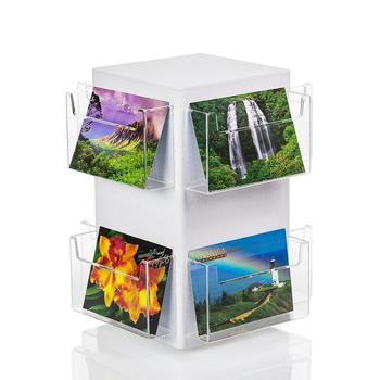 Counter Clear Acrylic Gift Card Display Rack , greeting card rotating display rack