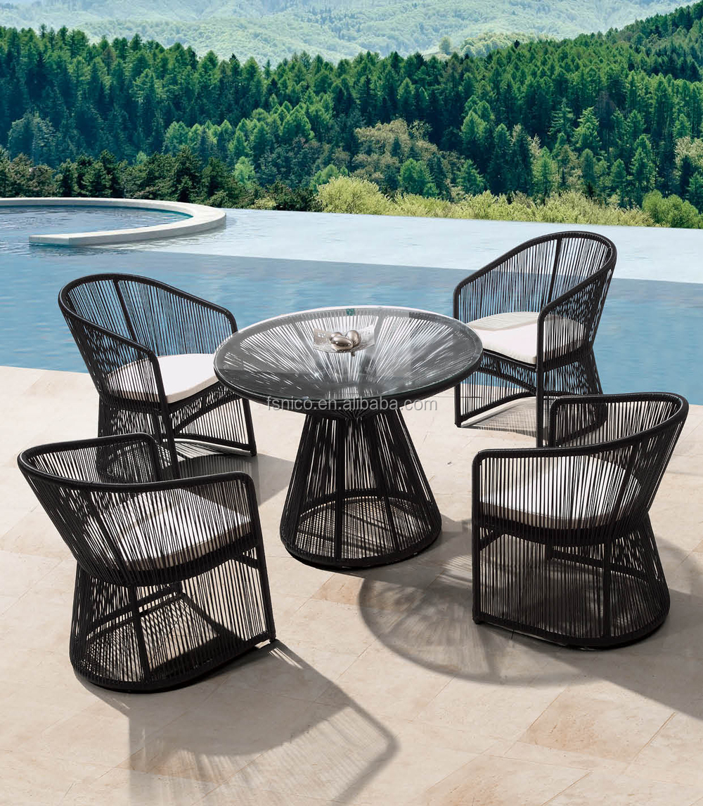 Outdoor furniture bangkok cheap wicker dining set table set