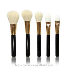12pcs high quality black golden cosmetic makeup brush set private label