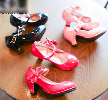 Kids Dress Girls Leather Shoes Children