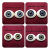 "1/4"" animal glass eyes for carvings crafts eyes for dolls glass"