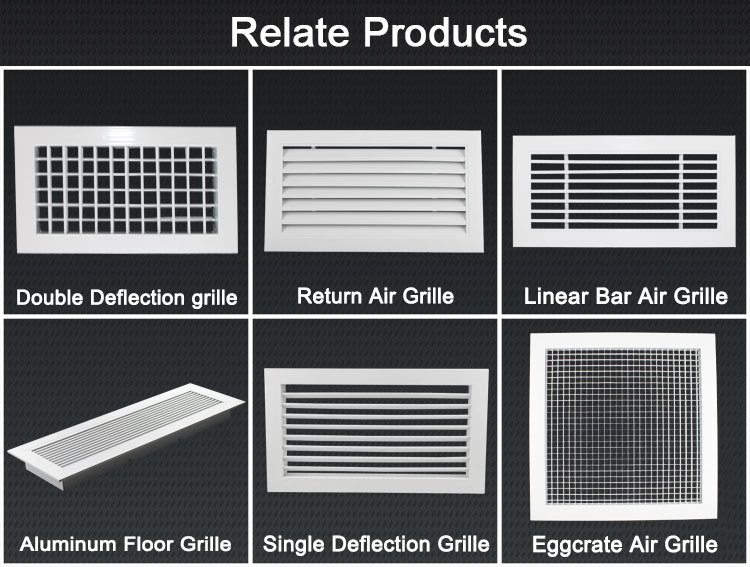 Ventilation Supply Air Aluminum Air Vent Grilles Ac Grille