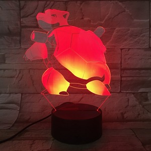 3D Illusion Lamp Turtle Shape 3D led table lamp for Christmas light gift