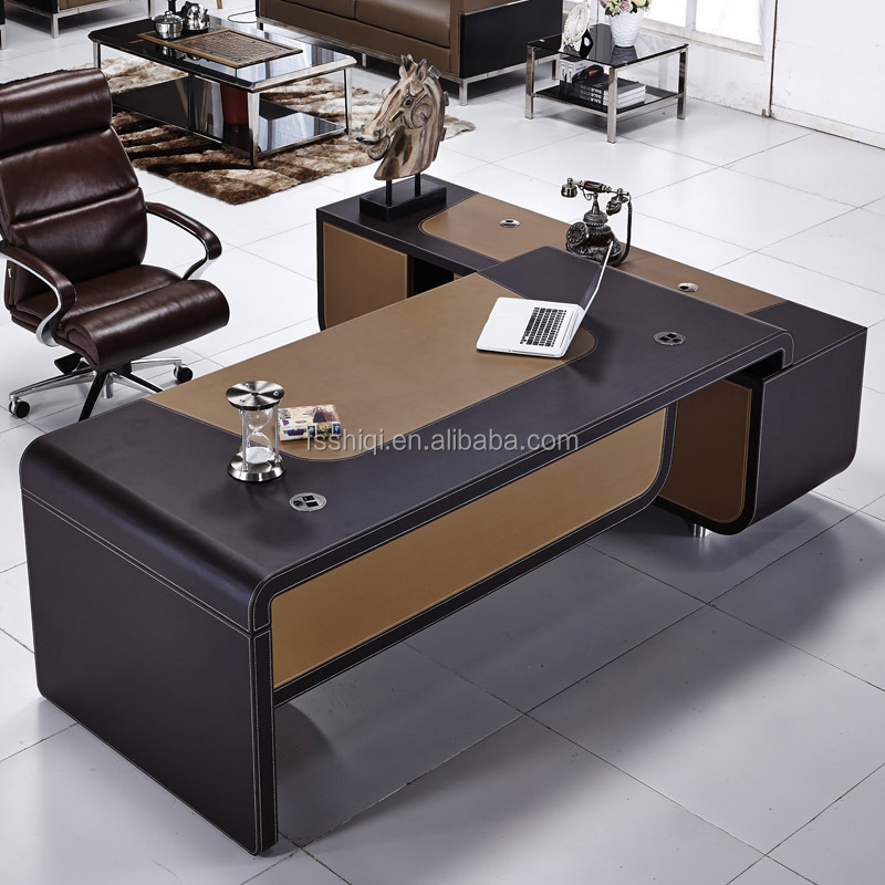 High Quality Modern Latest Leather Cover Office Table Designs Photos
