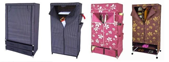 Hot Sell Cheap Fordable Modern Portable Wardrobe Closet Sliding