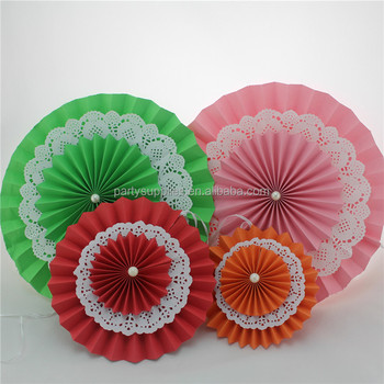 holiday wedding party decoration paper garland paper fan flower decoration
