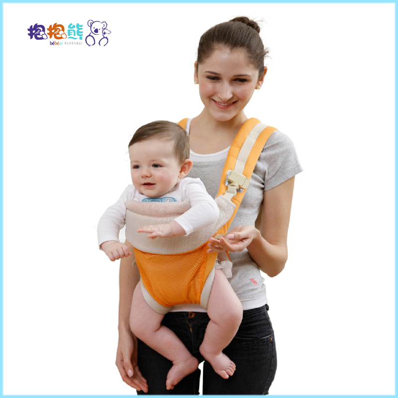 225e41d96fa Get Quotations · Bebear Mesh Breathable Baby Fashion Carrier Multifunctions  4 Carry Style Baby Kangaroo Wrap Sling Summer Carrier