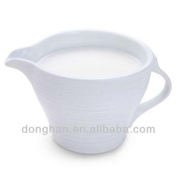 White Ceramic Coffee Creamer Container