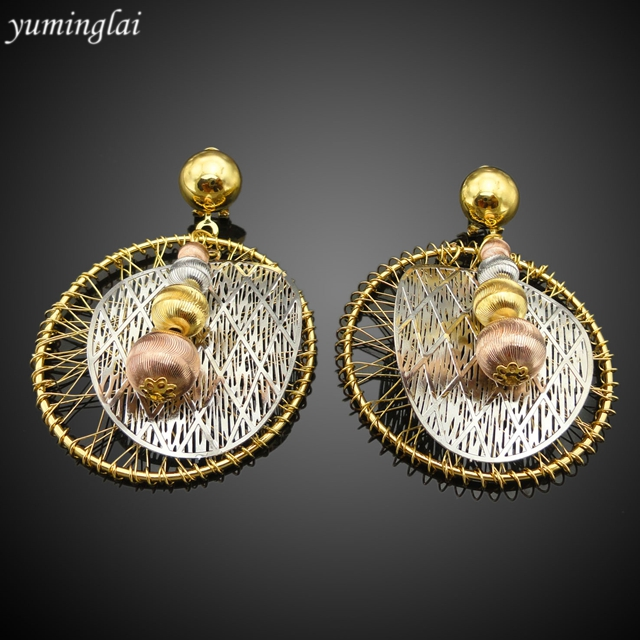 2017 new popular dubai gold jewelry set
