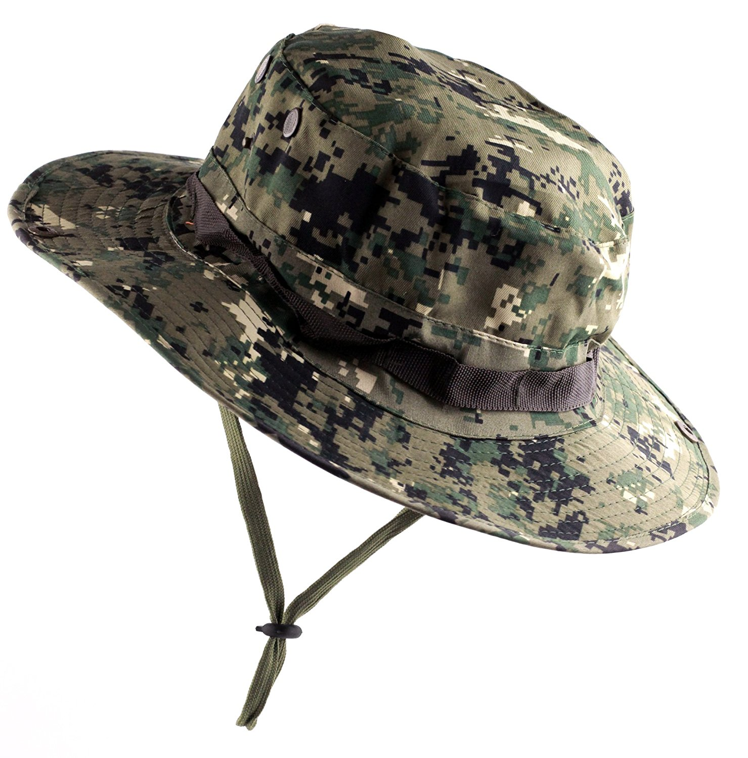 Get Quotations · Kaisifei Mens Military Camo Hat Woodland Digital- Boonie  Hat f530af78d485