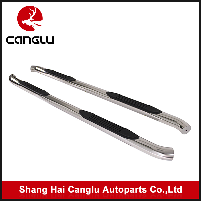 "Fit 97-06 Jeep Wrangler TJ 2 Door 3"" Round S/S Chrome Side Step Nerf Bar Running Boards"