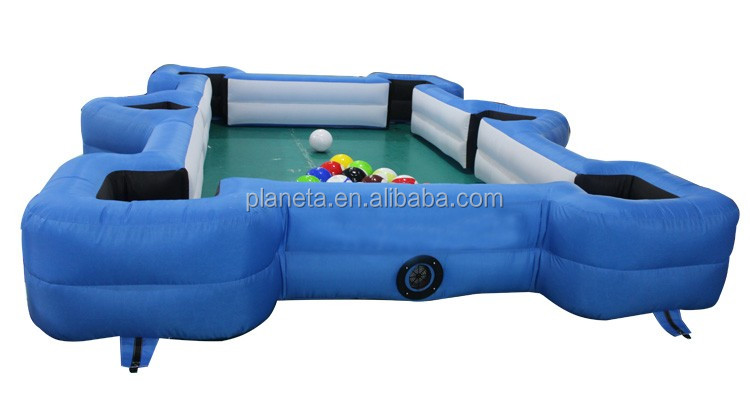 Portable cheap price inflatable pool table snookball buy for Cheap inflatable pool