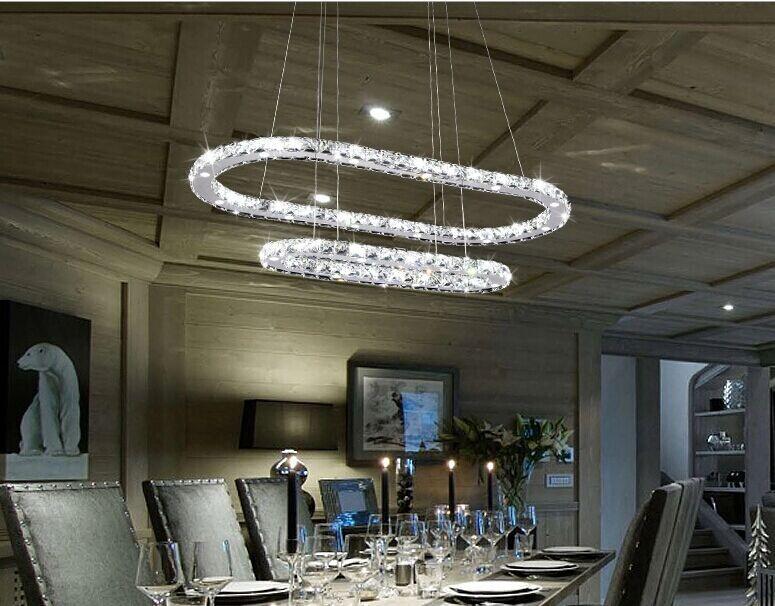 restaurant moderne gradateur ovale lustre en cristal. Black Bedroom Furniture Sets. Home Design Ideas