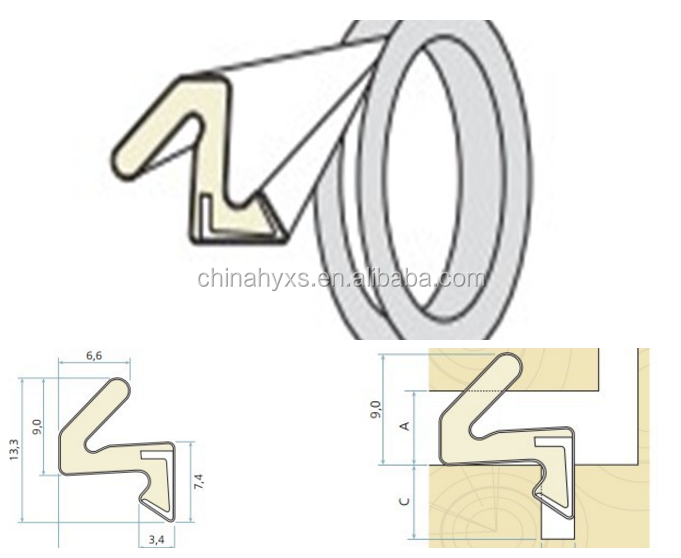 V shaped foam kerf door seal for safety gate