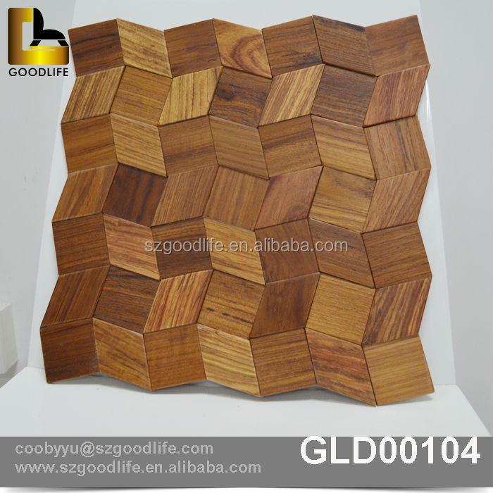 Eco Friendly Antique Solid Wood Wall Tile China Mosaic
