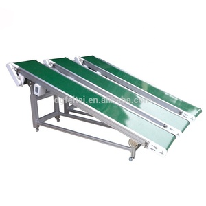 Adjustable Height Handling Equipment Monoclinic Flat Horizontal PVC Material Belt Conveyor