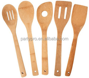 Hot sale Bamboo kitchen utensils bamboo spoon set wholesale